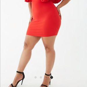 Forever 21 Dresses - Plus size ruffle trim mini dress